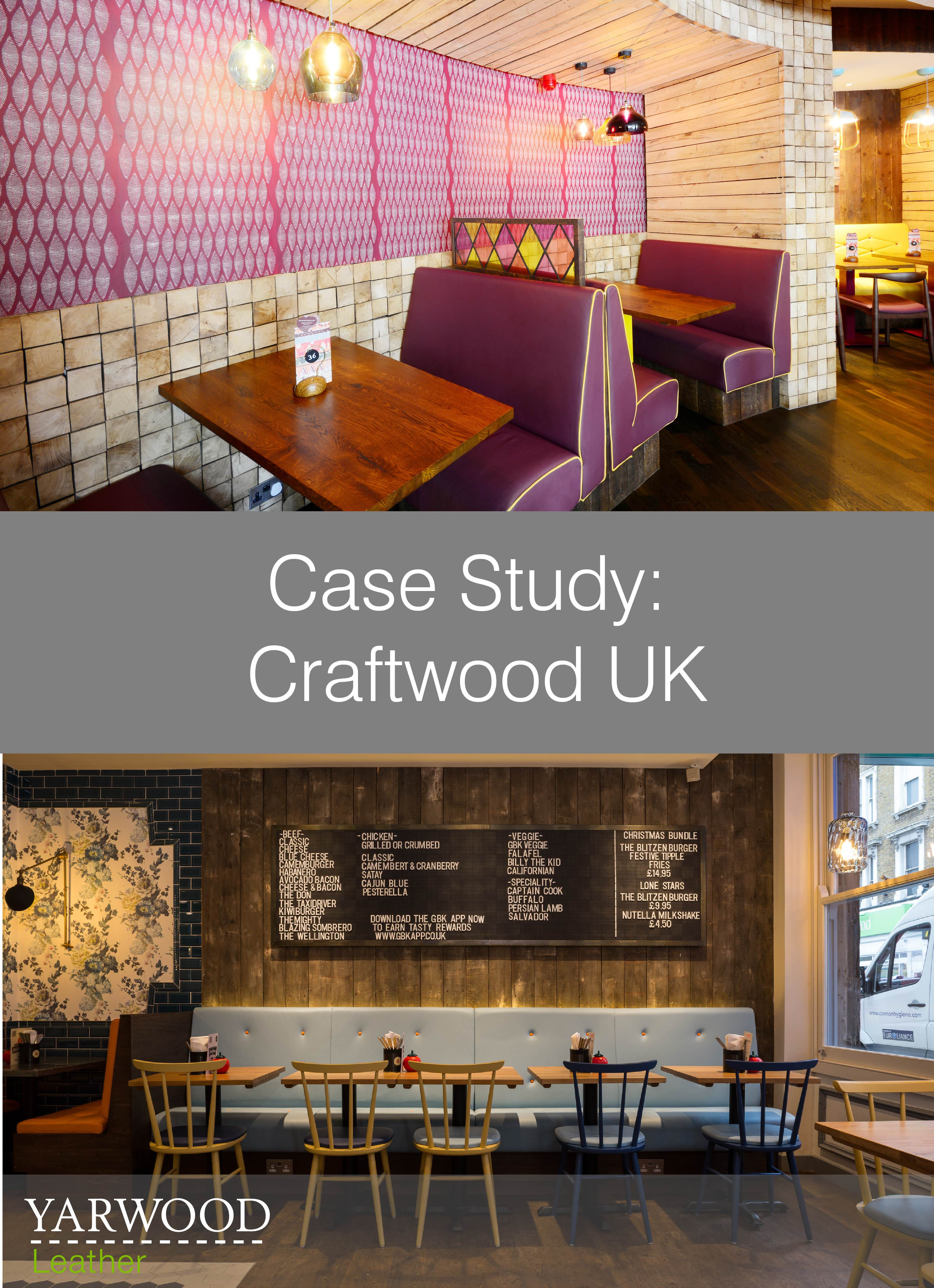 Restaurants up and down the country feature work from Craftwood UK, see some of their projects featuring Yarwood Leather